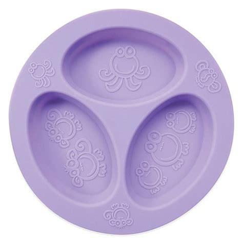 plates with separate sections oogaa 174 4 oz silicone divided plate www bedbathandbeyond com