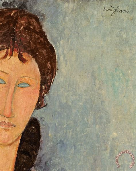 modigliani woman with a amedeo modigliani woman with blue eyes art painting for
