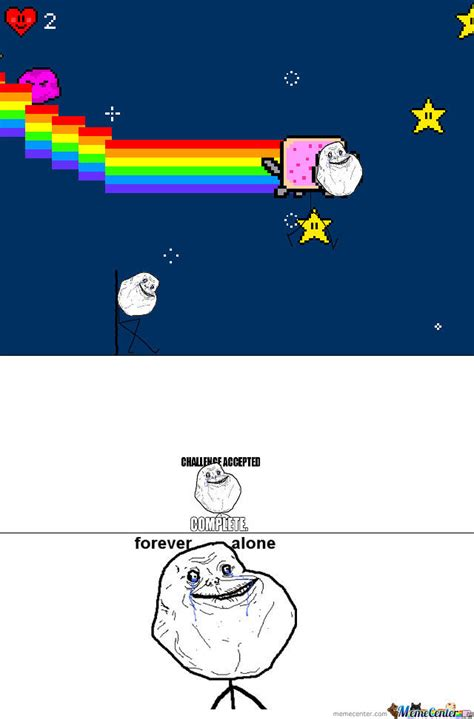 Nyan Cat Memes - forever alone nyan cat by mememaker122342 meme center