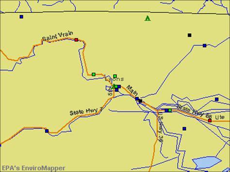 map of colorado lyons lyons colorado map my