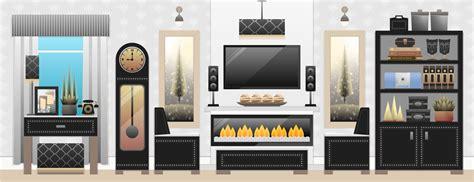 design a space online フリーイラスト素材 イラスト 風景 部屋 リビング 家具 家電機器 家電製品 tv テレビ
