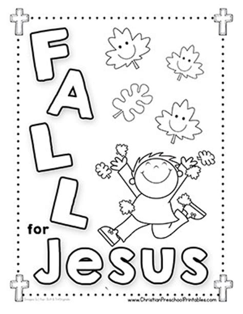 autumn coloring pages for sunday school fall leaf bible printables christian preschool printables