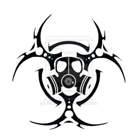 tribal biohazard tattoo designs radiation symbol tattoos biohazard symbol tattoos page 2