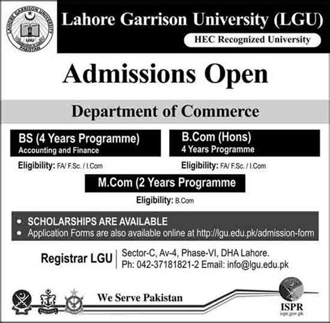 Mba Evening Of Excellence 2017 by Lahore Garrison Admissions 2018 Bs B Bba