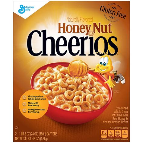 Cheerios Honey Nut Oats honey nut cheerios 24 oz 2 pk ezneeds