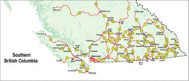road map of columbia canada bc maps