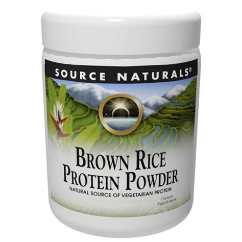 Garden Of Brown Rice Protein Powder Source Naturals Brown Rice Protein Powder 32 Oz 907 G