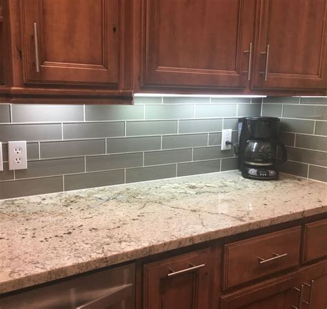 Installing Glass Tile How To Install Glass Subway Tile Backsplash In Kitchen