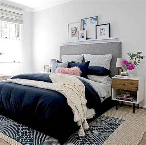 navy blue bedroom ideas grey and navy blue bedroom home design