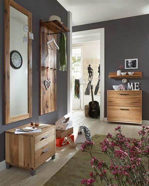 garderobe rustikal garderobenset flur kombi garderobe eiche massiv