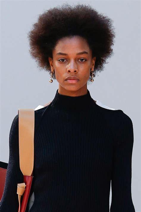 afro hair   catwalk