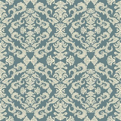 Abstract Background Royal Damask Ornament Classic Seamless Pattern Rich Vector Wallpaper Ornament Template