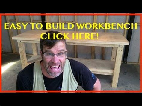 how to build a shop bench how to build a workbench easy cheap sturdy youtube