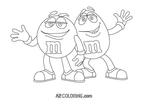 M&m Coloring Page   Coloring Home