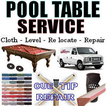 pool table service re cushion re cloth dismantle