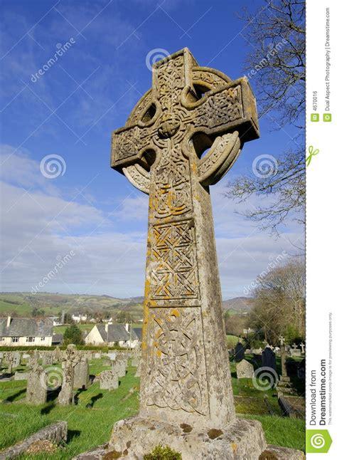 celtic stone cross royalty  stock image image