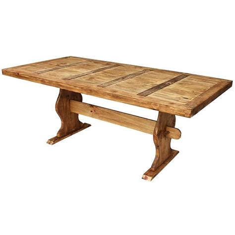 Trestle Table Dining Rustic Pine Collection Trestle Dining Table Mes01