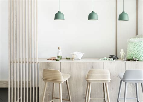 Muuto Luminaire Suspension Bambou Couleurs