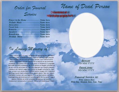 funeral program template  australia
