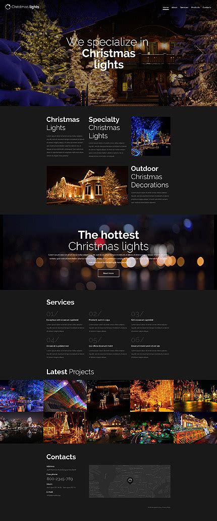 christmas lights responsive website template