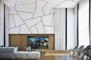 living room wall deco with 3d effect room decorating