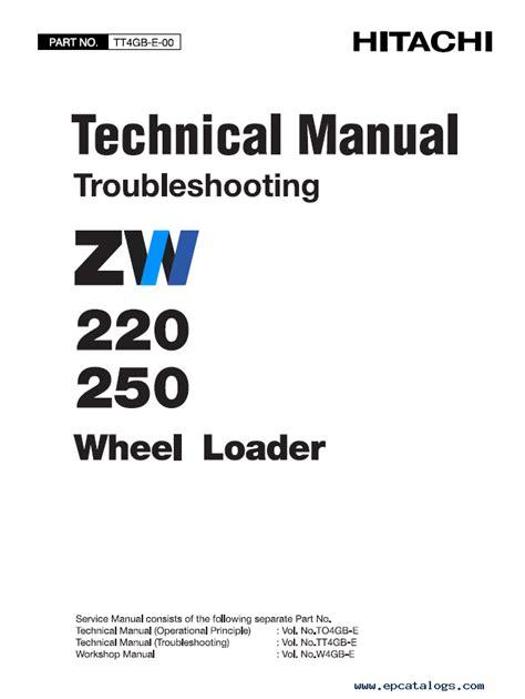hitachi zw zw wheel loader  manuals