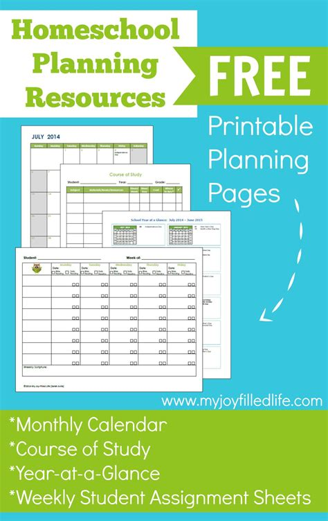 free printable homeschool planner pages free printable homeschool planning pages free homeschool