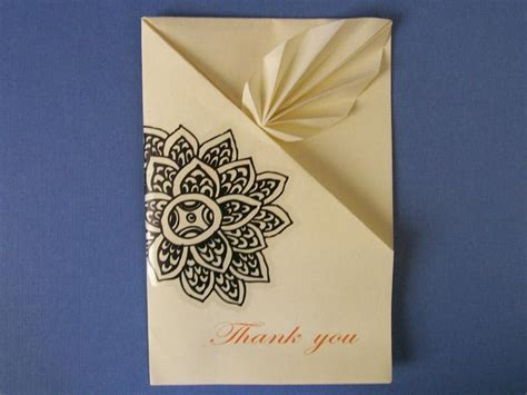 How To Make A Origami Card - 9 ideas for easy thank you cards
