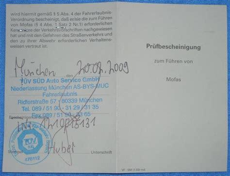 Motorfahrrad Ausweis by Eu Fahrerlaubnisklassen