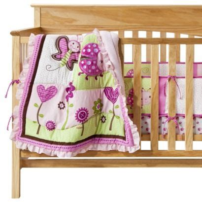 Pink Ladybug Crib Bedding Pink Ladybug Crib Bedding New Pink Ladybug Flowers Baby Crib Bedding Set 3 Items Including
