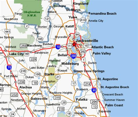 jacksonville fl map maps of dallas map of jacksonville fl