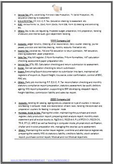 2 page resume format for experienced chartered accountant resume format freshers page 2 cv exles