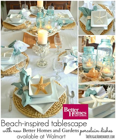 Coastal Dining Room Sets Beach Inspired Tablescape With Better Homes And Gardens