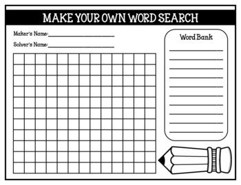 make your own word search template price lists templates best free home design idea