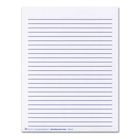 raised writing paper raised lines paper narrow writing guides hearmore