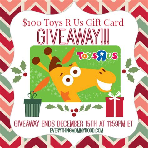 Toys R Us Gift Card Giveaway - 100 toys r us gift card giveaway ends 12 15