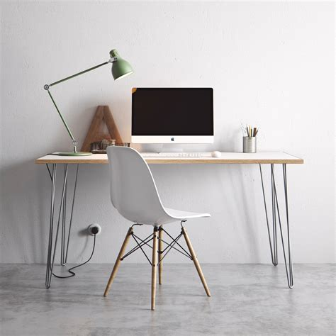 industrial hairpin leg desk the hairpin leg co desk dining tables
