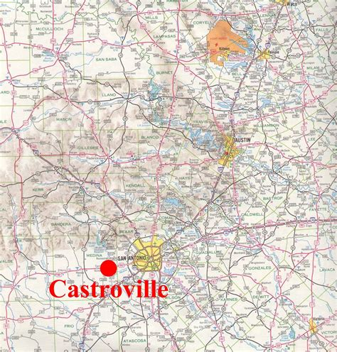 map of castroville texas castroville small town research project