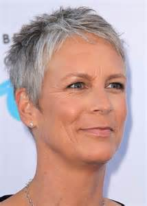 jamie lee curtis haircut back view short hairstyle 2013