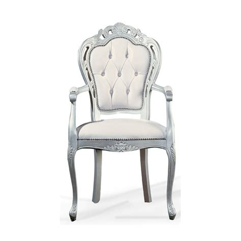 classic chair white and silver classic chair 0209a from ultimate