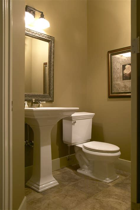 Tiny Bathroom Ideas Photos by Country Walkout Traditional Powder Room Calgary By
