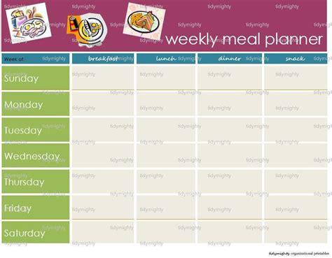 printable meal plan pdf weekly meal menu planner printable pdf instant by tidymighty