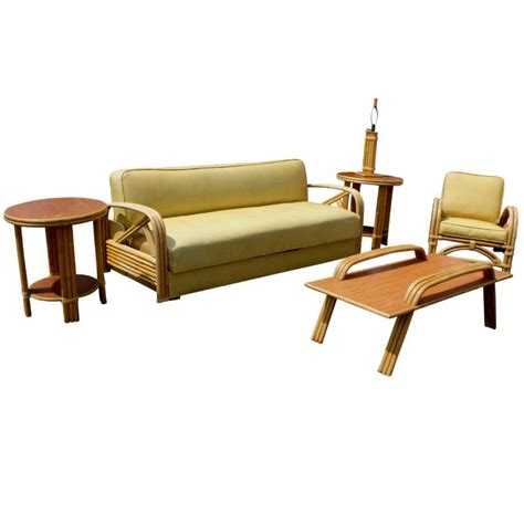 bamboo daybed paul frankl style tropitan bamboo sofa and daybed at 1stdibs