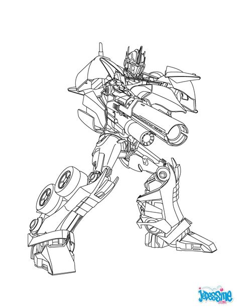 transformers crosshairs coloring page coloriages coloriage gratuit transformers fr hellokids com