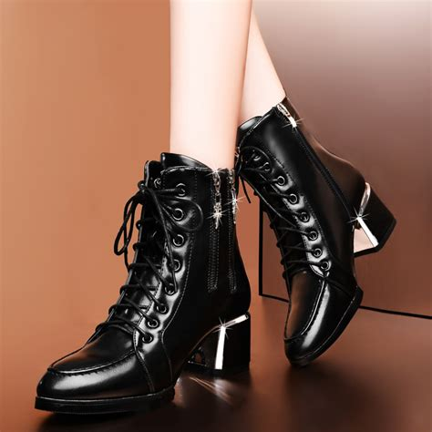 genuine leather winter boots martin boots fashion high