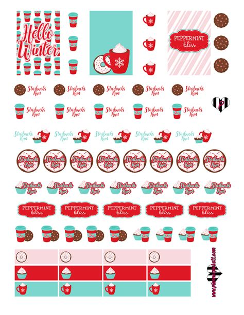 printable planner holiday stickers christmas planner printables planner stickers free