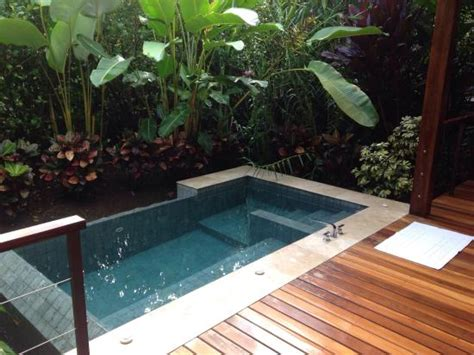Backyard Easy Landscaping Ideas Plunge Pool Natural Spring Water Heated By The Nearby