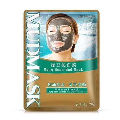Promo Kosmetik Bioaqua Remove Blackhead Mud Mask Mask Lumpur Bio Aqua Bioaqua Mung Bean Mud Cleaning Mask Acne Treatment
