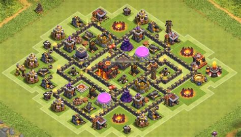 coc level 7 war base top 40 best town hall 7 war farming hybrid trophy base