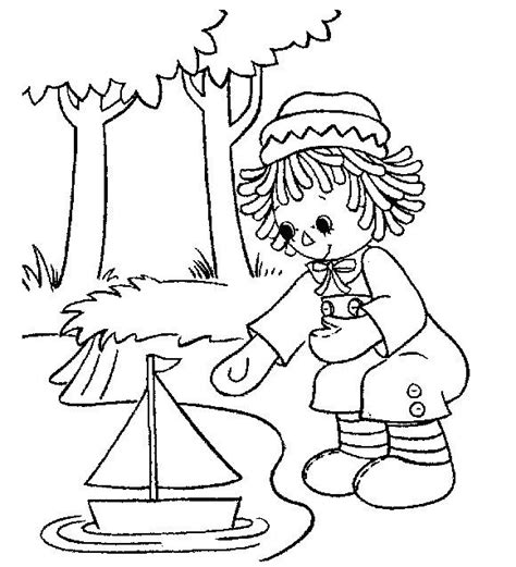 coloring book pages raggedy 1133 best images about raggedys on free